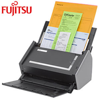 Image Fujitsu ScanSnap S-1500 Two-Sided Document Scanner. will Abrax provide you local Service or Sales of Scanners, Supplies & Parts for Canon, Fujitsu, Xerox, Konica, Minolta, Ricoh, HP, Hewlett Packard, OKI, Okidata, Lexmark, Dell, Brother, Samsung, Copystar, Panasonic, Epson Scanners. Call 952-944-2357 or www.abrax.com